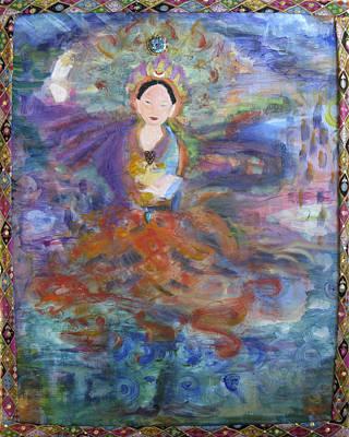 Buddhist Painting - Dakini Of Space by Alma Dankoff