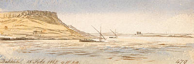 Drawing - Dakkeh by Edward Lear