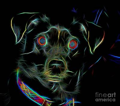 Dakota Blazing Neon Colors Art Print
