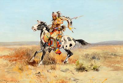 Dakota Painting - Dakota Chief by Celestial Images