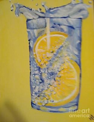Art Print featuring the painting Dakota Flint Prayer by Saundra Johnson