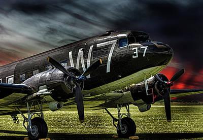 Airplane Photograph - Dakota by Martin Newman