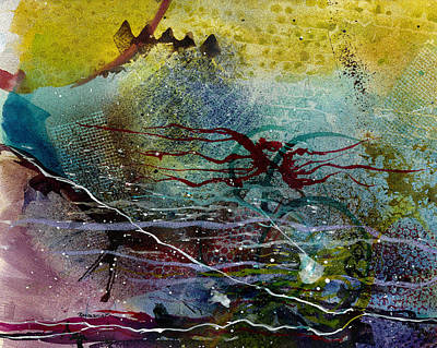 Representative Abstract Painting - Dakota Pony by David Raderstorf