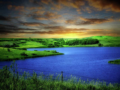 Photograph - Dakota Small Lake 3 by William Tanata