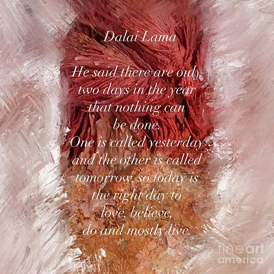 Mixed Media - Dalai Lama Quote by Susan Garren
