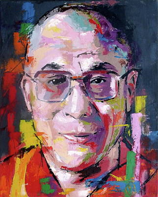 Tibet Painting - Dalai Lama by Richard Day