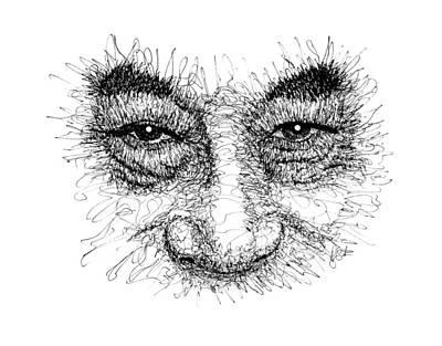 Drawing - Dalai Lama T-shirt by Peter Cutler
