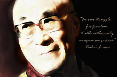 Digital Art - Dalai Lama Truth by Barbara Chichester