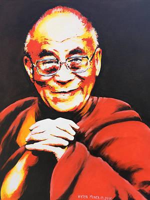 Painting - Dalai Lama by Victor Minca