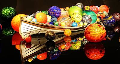 Photograph - Glass Sculpture Boat by Bruce Bley
