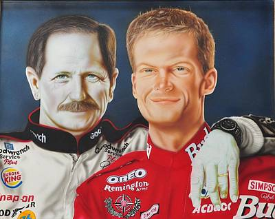 Dale Earnhardt Painting - Dale- Dale by Rebel Dowdle