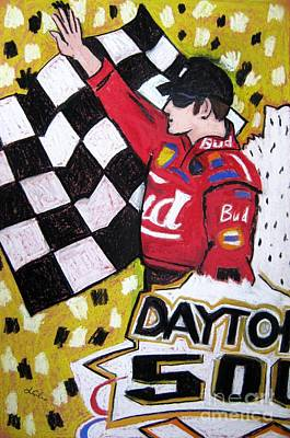 Dale Earnhardt Painting - Dale Earnhardt Jr. by Lesley Giles