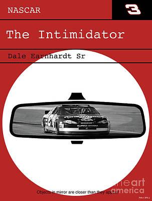 Dale Earnhardt Sr., The Intimidator, Nascar, Minimalist Poster Art Print by Thomas Pollart