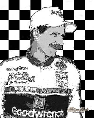 Digital Art - Dale Earnhardt Sr by William Havle