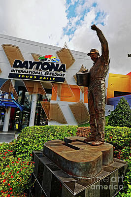 Photograph - Dale Earnhardt Statue by Paul Mashburn