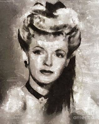 Dale Evans, Actress Art Print by Mary Bassett