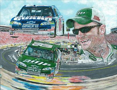 Dale Earnhardt Painting - Dale Jr. by David Hipwell