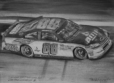 Sports Sketching Drawing - Dale Jr by Paul Autodore