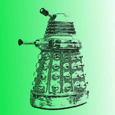 Photograph - Dalek Green by Richard Reeve
