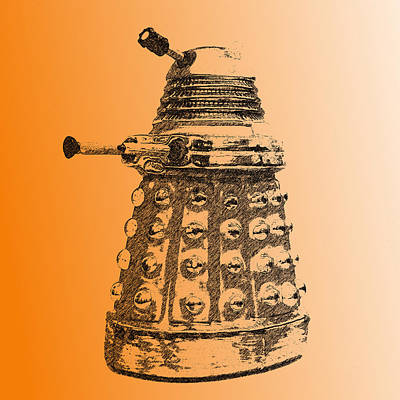 Photograph - Dalek Orange by Richard Reeve