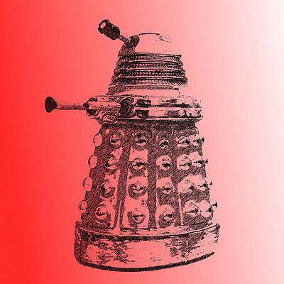 Photograph - Dalek Red by Richard Reeve