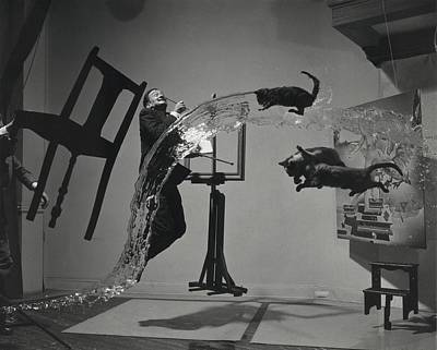 Painter Photograph - Dali  Atomicus By Philippe Halsman by Everett