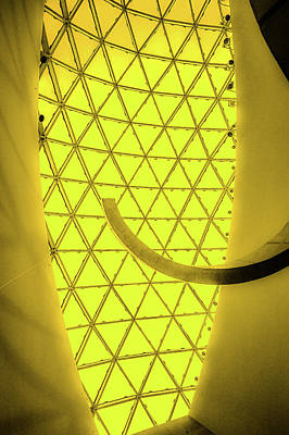 Painting - Dali Museum Glass Roof In Yellow by Judith Barath