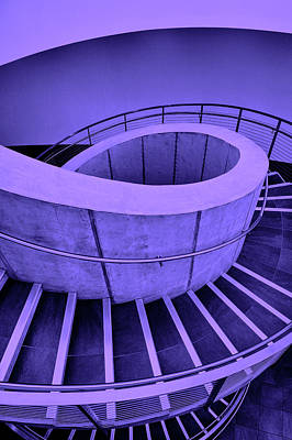 Photograph - Dali Museum Staircase In Purple by Judith Barath