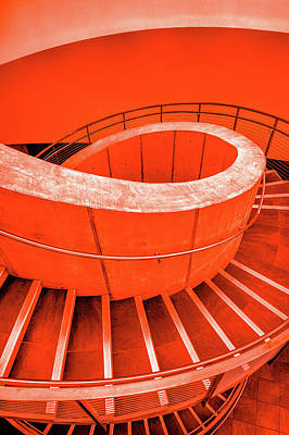 Photograph - Dali Museum Staircase In Red by Judith Barath