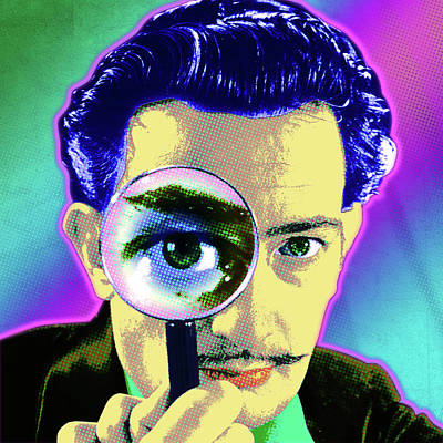 Painting - Dali Portrait by Gary Grayson