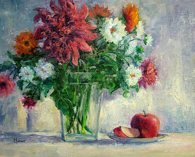 Painting - Dalias by Jill Musser