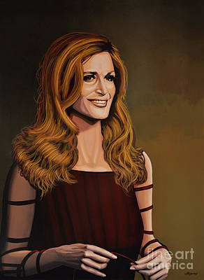 Disc Painting - Dalida by Paul Meijering