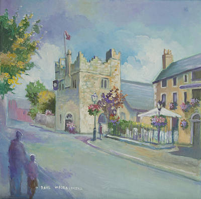 Painting - Dalkey Castle by Paul Weerasekera
