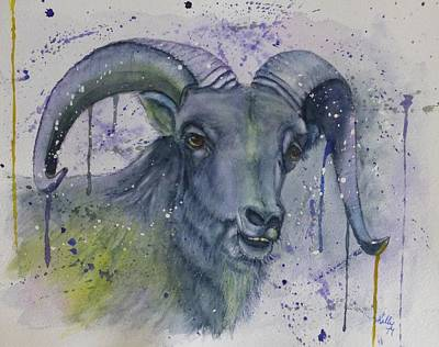 Painting - Dall Sheep In Living Color by Kelly Mills