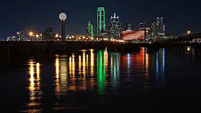Photograph - Dallas At Night by Kathy Churchman