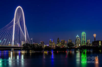 Dallas At Night Art Print by Tamyra Ayles