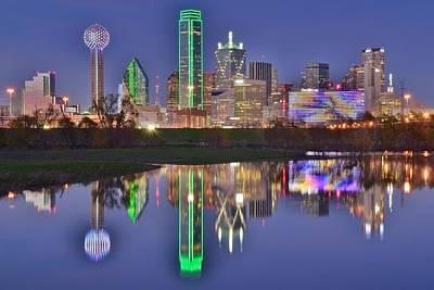 Dallas Blue Hour Art Print