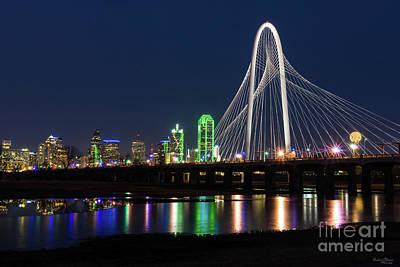 Dallas Bridge View Art Print