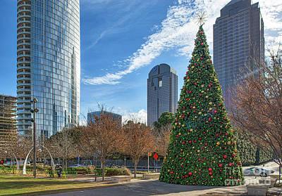 Dallas Christmas Tree Art Print