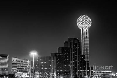 Dallas Skyline Photograph - Dallas City At Night by Tod and Cynthia Grubbs