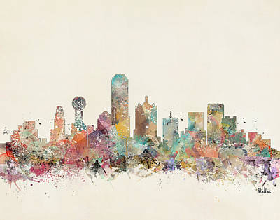 Colourfull Painting - Dallas City by Bleu Bri
