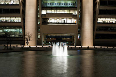 Photograph - Dallas City Hall Night 022817 by Rospotte Photography