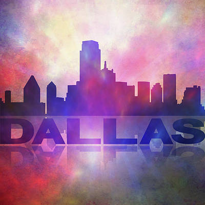Painting - Dallas City Skyline by Lilia D