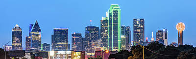 Photograph - Dallas City Skyline Panoramic by Gregory Ballos