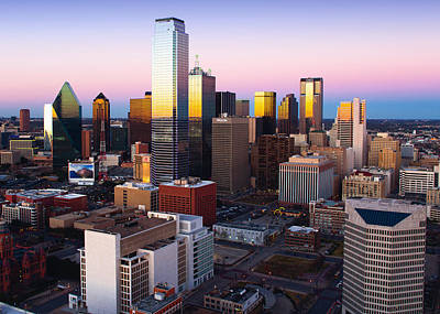 Photograph - Dallas Colorful Sunset 316 by Rospotte Photography