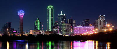 Photograph - Dallas Colors Pano 2015 by Rospotte Photography