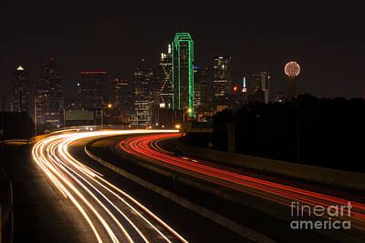 Metroplex Office Photograph - Dallas Commute by Anthony Totah