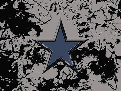 Patriot Mixed Media - Dallas Cowboys 1a by Brian Reaves