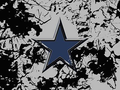 Patriot Mixed Media - Dallas Cowboys 1b by Brian Reaves