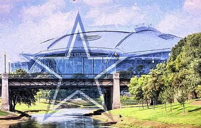 Digital Art - Dallas Cowboys Att Stadium by JC Findley